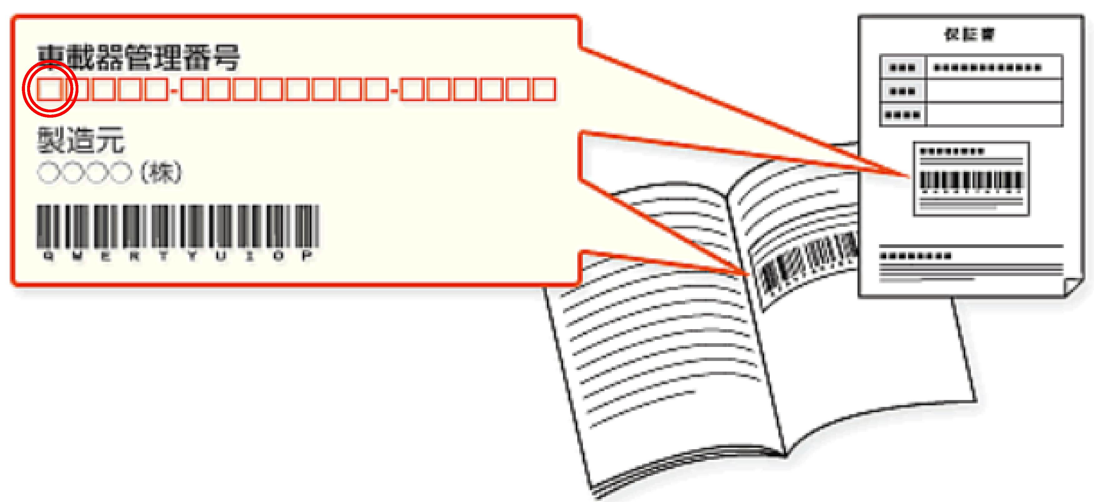 車載器の保証書の画像