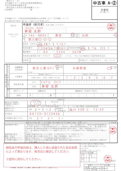申請書の書き方2