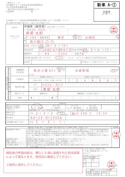 申請書の書き方1